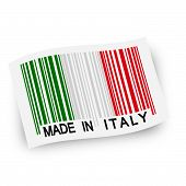 Flag With Barcode -  Made In Italy