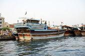 Dubai, Uae - September 10: The Traditional Cargo Ship In Dubai Creek On September 10, 2013 In Dubai,