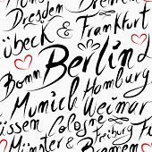 Travel Germany Destination City Seamless Pattern