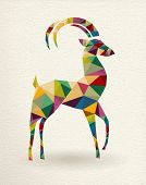 New Year Of The Triangle Goat 2015 Card