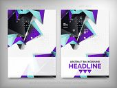 Flyer, Brochure Design Templates, Geometric Shape Unusual Abstract Backgrounds