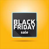 Black Friday sales tag. vector illustration