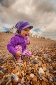 Girl on the sandy beach