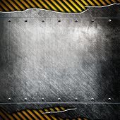 cracked plate with warning stripes