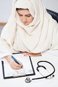Muslim Doctor In The Office