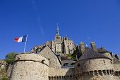 mont saint michel view, in the north of france