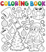 Coloring book Christmas thematics 4 - eps10 vector illustration.