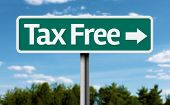Tax Free creative green sign