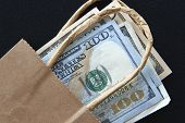 US Dollars in a Bag