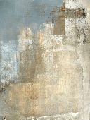 stock photo of abstract painting  - Modern grey and beige abstract painting with simple lines and texture - JPG