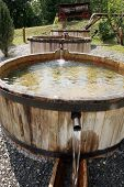 stock photo of washtub  - Wooden - JPG