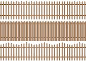 3 Wooden Picket Fence