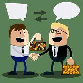 Happy business man make handshake