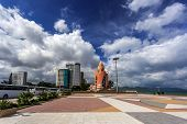 Постер, плакат: Main Town Square In Nha Trang Vietnam