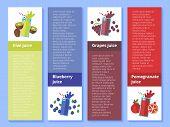 image of fruit shake  - Fruit smoothie collection - JPG