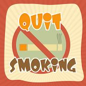 Постер, плакат: Anti smoking sign with text Quit Smoking for No Smoking Day can be used as poster banner or flyer