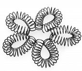picture of amortization  - steel springs on white background if shape of flower - JPG