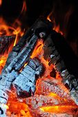 stock photo of ashes  - Burning down fire - JPG