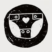pic of diaper  - Diapers Doodle Drawing - JPG
