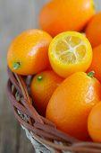 picture of kumquat  - a slice kumquat in basket - JPG