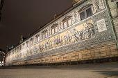 stock photo of mural  - The Famous Furstenzug Giant Mural In Dresden - JPG