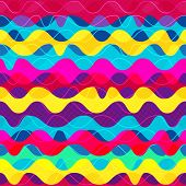image of psychedelic  - psychedelic wave seamless pattern  - JPG