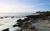 image of bangladesh  - Landscape of Rocky Saint Martins Island in Bangladesh - JPG