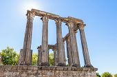 foto of ancient civilization  - Ancient Roman temple known as Diana - JPG