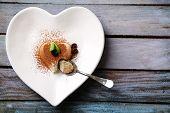pic of panna  - Tasty panna cotta dessert on plate - JPG