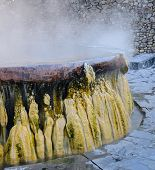 picture of groundwater  - Close up of Hot springs pool at Raksawarin Public Park in Ranong Southern Thailand - JPG