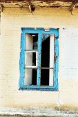picture of abandoned house  - Window in old abandoned house - JPG