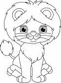 Постер, плакат: lion coloring page
