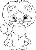 ������, ������: lion coloring page