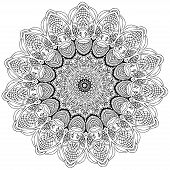 picture of kaleidoscope  - Ornament color card with mandala - JPG