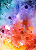pic of composition  - Abstract hand drawn watercolor background - JPG