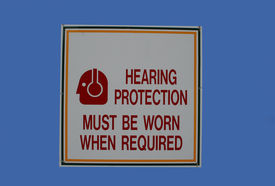 picture of noise pollution  - hearing protection must be worn sign - JPG