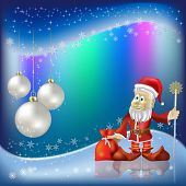 Christmas Nacreous Balls And Santa Claus