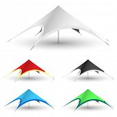picture of canopy roof  - Star Tent on a white background - JPG