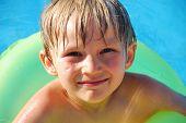 Happy Boy In Pool