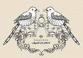 lovely wins birds wallpaper best for wedding invitation card