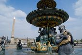 Fountain in Place de la Concorde, Paris, France