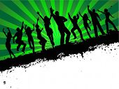 image of person silhouette  - Grunge party - JPG