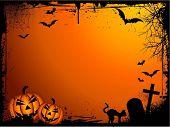 Frontera de Halloween de Grunge