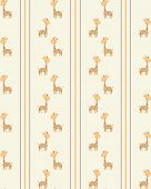 Vector Retro seamless giraffe pattern