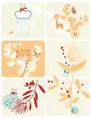 Vector Children's Floral (Graphics Set)