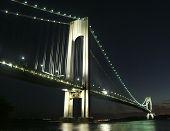 Verrazano Bridge At Night