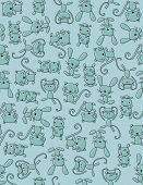 Seamless pattern vector displaying cute little baby animals
