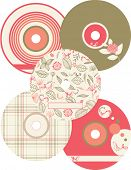 Vector Compact Discs Labels (Graphic set of 5)