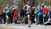 BOSTON - APRIL 18 : Nearly 25000 runners participated in the Boston Marathon