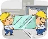 Illustration of Glaziers at Work